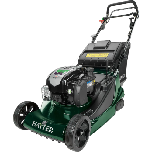 The Hayter Harrier 48 rear roller mower